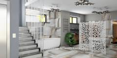 Загородный дом - цокольный этаж Новорижское шоссе 19 км: Коридоры, прихожие, лестницы в . Автор – Архитектурное Бюро Капитель