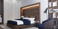 Риверсайд: Спальни в . Автор – Yurov Interiors