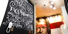 Loft • Lettering na parede:   por Aldric Bonani