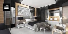 COME RAIN OR SHINE | II | Wnętrza domu: styl , w kategorii Sypialnia zaprojektowany przez ARTDESIGN architektura wnętrz