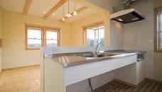 ジムのある家 オリジナルデザインの キッチン の 大森建築設計室 オリジナル