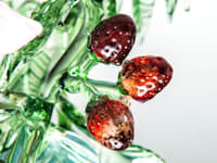 Strawberry detail, Fruit and Flowers chandelier:   by A Flame with Desire