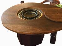 焼桐卵形囲炉裏テーブル: 桐里工房が手掛けたです。