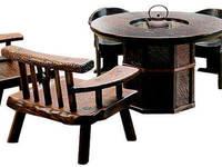 焼桐正円形囲炉裏テーブル: 桐里工房が手掛けたです。