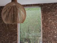 Cocomosaic | Wooden bark large: moderne Keuken door Nature at home | Cocomosaic | Wood4Walls