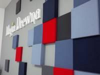 Realizacja.Fluffo PIXEL.: styl , w kategorii Domowe biuro i gabinet zaprojektowany przez FLUFFO fabryka miękkich ścian