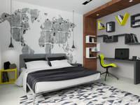 Дизайн-проект таунхауса 180 кв м в стиле Минимализм: Детские комнаты в . Автор – Мастерская архитектуры и дизайна FOX