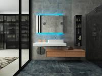 Дизайн-проект таунхауса 180 кв м в стиле Минимализм: Ванные комнаты в . Автор – Мастерская архитектуры и дизайна FOX