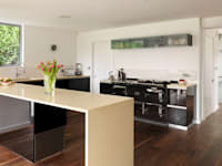 Black Glass Units:   by Kitchen Co-Ordnation