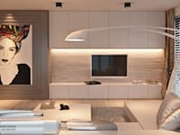 MINIMALISTYCZNIE: styl , w kategorii Salon zaprojektowany przez Ludwinowska Studio Architektury