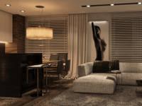 HOTELOWO: styl , w kategorii Salon zaprojektowany przez Ludwinowska Studio Architektury