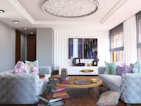 SHANGHAI : styl , w kategorii Salon zaprojektowany przez Ludwinowska Studio Architektury