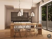 Projekt jadalni i kuchni: styl , w kategorii Jadalnia zaprojektowany przez InDecor Agnieszka Ligęza