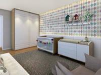 scandinavian Nursery/kid's room by Konverto Interiores + Arquitetura