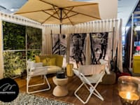 HOME OFFICE DEL FOTÓGRAFO - EXPODECO 2016: Jardines de estilo moderno por ARKILINEA