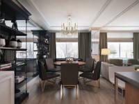 Green Gray: Столовые комнаты в . Автор – KAPRAN DESIGN (interior workshop)