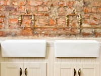 renovated scullery: rustic Kitchen by deborah garth interior design