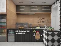 Krakowski Kumpir: styl , w kategorii Gastronomia zaprojektowany przez Dream Design
