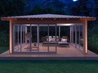 Gazebo Cosmo mod. Star: Giardino in stile in stile Asiatico di Verdebano ASC F.lli Saramin & Co. s.n.c.