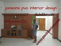 balabharathi pvc tv showcase design :   by balabharathi pvc interior design