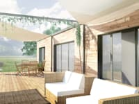 Projekty,  Balkon, taras i weranda zaprojektowane przez Belle Ville Atelier d'Architecture