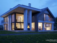 Dieses Haus macht einfach richtig gute Laune! Unser Entwurf LK&1330: moderne Häuser von LK&Projekt GmbH