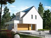 Projekt Adam G2 ENERGO PLUS - energooszczędny dom z dwoma tarasami : styl nowoczesne, w kategorii Domy zaprojektowany przez Pracownia Projektowa ARCHIPELAG