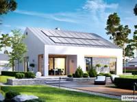 Ralf II G1 ENERGO PLUS - mały dom, który zachwyca : styl nowoczesne, w kategorii Domy zaprojektowany przez Pracownia Projektowa ARCHIPELAG