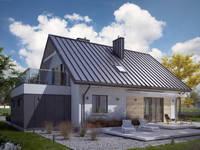 Wizualizacja projektu domu Indygo 3: styl nowoczesne, w kategorii Domy zaprojektowany przez Biuro Projektów MTM Styl - domywstylu.pl