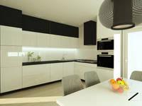 Czerń i biel w duecie: styl , w kategorii Kuchnia zaprojektowany przez ZIN Studio