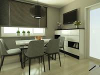 Czerń i biel w duecie: styl , w kategorii Jadalnia zaprojektowany przez ZIN Studio