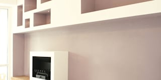 casa LM: Case in stile in stile Moderno di CAFElab studio