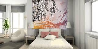 Décor mural abstrait en tête de lit:  de style  par Belmon Déco