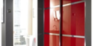 REd Sliding Doors:   by Wardrobe Design Online