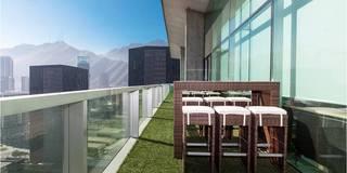 Áreas de descanso en oficinas: Terrazas de estilo  por Ofis Design