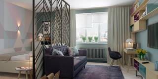 Salas de estilo escandinavo por Anna Clark Interiors