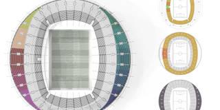 Nuevo estadio nacional de Libia en Trípoli. 55K:  de estilo  de Javier Garcia Alda arquitecto