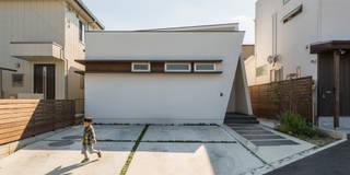 外観: H建築スタジオが手掛けた商業空間です。