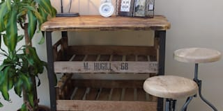Reclaimed Industrial Wooden Shelving Unit:   by The Den & Now