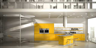 Cocinas de estilo ecléctico por Vegni Design