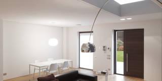 Spazi ritrovati: Soggiorno in stile in stile Moderno di studio antonio perrone architetto
