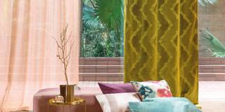 FR-One Stoffe Vantage und Webledon: tropische Fenster & Tür von Indes Fuggerhaus Textil GmbH