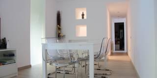 Ampliación y reforma de vivienda unifamiliar : Comedores de estilo minimalista de Alcazar Construcciones
