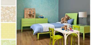 Recámara infantil con mesa de trabajo: Recámaras infantiles de estilo minimalista por MARIANGEL COGHLAN