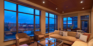 Upper Falls Condo 602: modern Living room by Uptic Studios