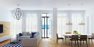 Апартаменты на берегу Черного моря: Гостиная в . Автор – Оксана Мухина
