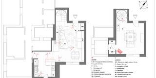 Pianta generale: Soggiorno in stile in stile Moderno di Bianca Coggi Architetto