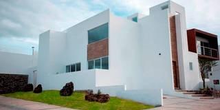 Fachada: Estudios y oficinas de estilo minimalista por JF ARQUITECTOS