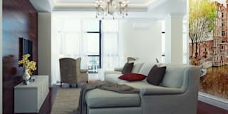 Квартира двухуровневая: Гостиная в . Автор – Оксана Мухина
