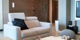 Apartament na Żoliborzu : styl , w kategorii Salon zaprojektowany przez project art